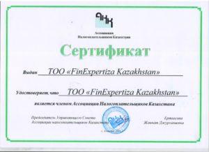 Сертификат АНК Фин
